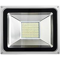 Awhao® Foco Reflector LED 10W 20W 30W 50W 100W 150W 200W Foco Proyector LED Luz de Inundación Blanca fría de cuarta generación (100W)