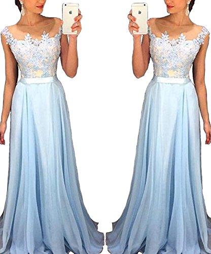 Special Bridal Chiffon Spitze Appliques Abendkleid 2018 Damen Langes Abendkleid -