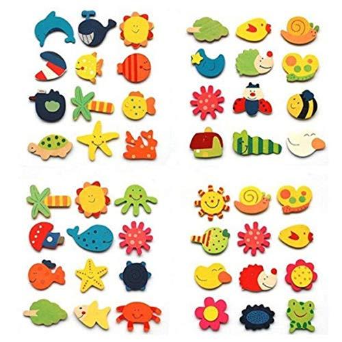 Cooshional 12 Pcs Pegatina de Imán para Refrigerador Patrón de Planta Animal Dibujos Animados Pegatinas Decorativas