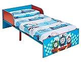 Hello Home Cama Infantil para Niños Pequeños - Thomas y Sus Amigos, Madera, Azul, 143x77x42.5 cm