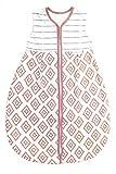 Emma & Noah Baby Schlafsack, Kugelschlafsack, Übergangsschlafsack (1.0 Tog), 100% Baumwolle, Größe: 110 cm, Farbe: Altrosa, ideal als Babyschlafsack