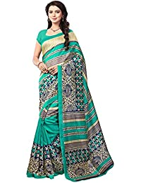 Indian Fashionista women's Bhagalpuri Cotton Saree with Blouse Piece (STM4646_Multicolor)