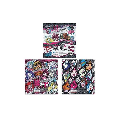25-Bogen-Set-Monster-High-12er-Stickerbogen-Sticker-Mitgebsel