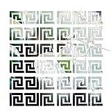 Bobury 10pcs 3D Geometrischer Taillen Spiegel Wand Aufkleber Wand Dekor moderner Entwurf für Decke