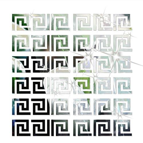 Bobury 10pcs 3D Geometrischer Taillen Spiegel Wand Aufkleber Wand Dekor moderner Entwurf für Decke (Spiegel Für Wand-dekor)