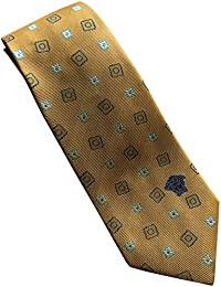 Versace Made In Italy Yellow Patterned 100% Silk Men's Tie