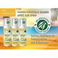 Plantacos Apres Sun Insekten-Schutzspray Sensitiv - 3er Vorteilspack - Mit pflanzlichem Wirkstoff - Schützt zuverlässig... preisvergleich bei billige-tabletten.eu