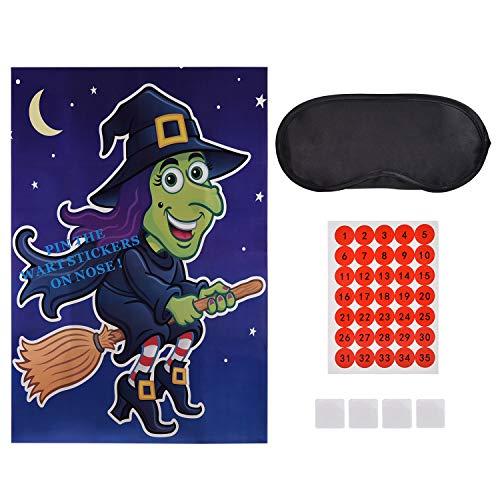 Halloween Spiele - GEBEN SIE DIE Hexe EINEN WART - bis zu 35 Spieler, Witziges Spiel für den Halloween Party