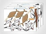 GRAZDesign 411023_4 Fenstersticker Meerestiere | Fensterbild als bunte Aufkleber | Glasdekor für Badezimmer/Kinderzimmer (DIN A4 (4Stück))