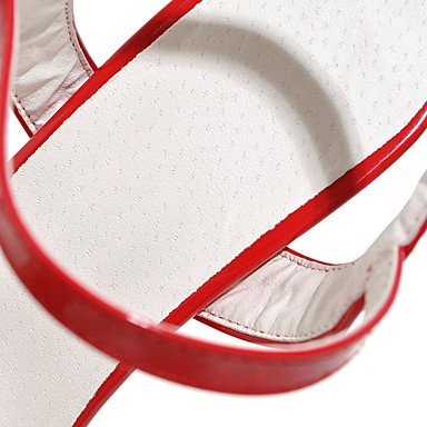 LvYuan Damen-Sandalen-Outddor Büro Lässig-PU-Stöckelabsatz-Andere-Schwarz Rot Weiß Silber Gold Red