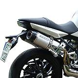 Auspuff Bodis TSPT1050-001 Qval Tec, Slip-On 3-2 Stahl geschliffen für Triumph Speed Triple 1050 515NJ