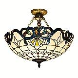 Tiffany 50,8cm Barock halbrund Wohnzimmer Deckenleuchte Mediterraner Esszimmer Deckenleuchte Lampe Europäischen Restaurant Deckenleuchte Leuchten