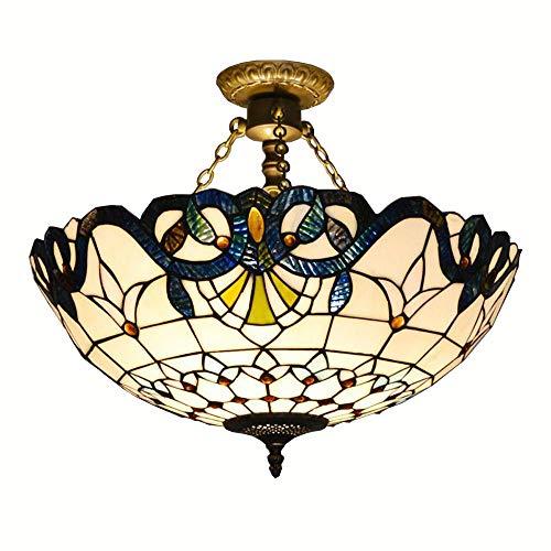 Tiffany 50,8cm Barock halbrund Wohnzimmer Deckenleuchte Mediterraner Esszimmer Deckenleuchte Lampe Europäischen Restaurant Deckenleuchte Leuchten - Barock Deckenleuchte