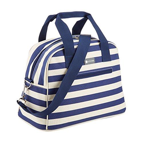 Kitchen Craft Coolmovers 11,5 litros nevera portátil estilo bolsa de viaje, de rayas de color azul