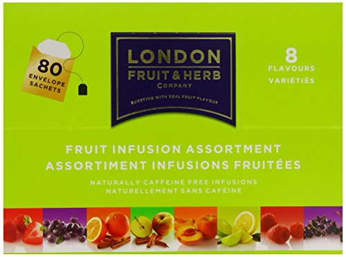 London Fruit and Herb Company 80 Fruit Tea Assortment Teabags (Pack of 4, Total 320 Teabags)
