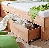 Relita Bett, buche, Natur geölt