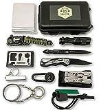 Felbridge Green Außen Notfall Survival Kit 12 in 1 mit Multi-Tool Zangen set und Paracord Armbänd. Für Camping, Bushcraft, Wandern, Jagd und Ihr Outdoor Abenteue