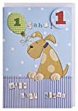 Kinder-Geburtstagskarte 1 Jahr Lustiger Hund