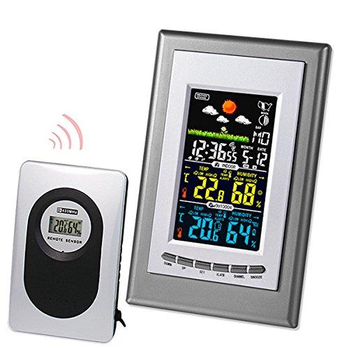 Tutoy Digital Lcd Station Météo Sans Fil Thermomètre Calendrier Horloge Intérieur Extérieur