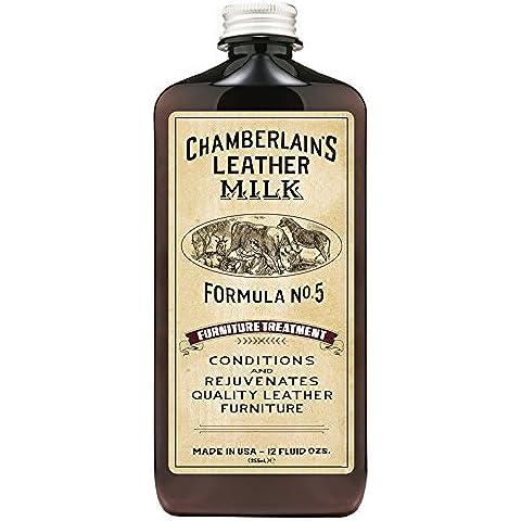Chamberlain de piel Leche muebles tratamiento fórmula nº 5| limpiador de muebles de cuero y acondicionador: reparación y protege sofás, sillas, asientos de automóviles y más. Incluye almohadilla de limpieza. En 2tamaños.