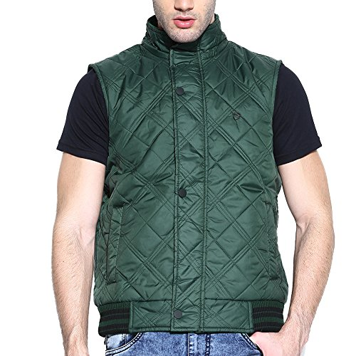 Reversible Duke Sleeveless Bottle Green Mens Jacket by returnfavors  available at amazon for Rs.1323
