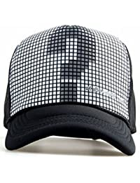 BEZZARE Printed Half Net Cap In Black Colour Printed Question Mark For Boys And Girls Cap