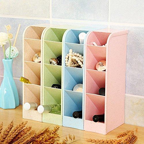 Pinzhi Organizador de caja de almacenamiento de escritorio Estuche de cosmética de maquillaje plástico transparente Estuche de joyería