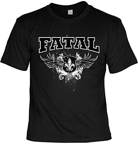Motiv-Shirt/Biker-Shirt/Herren-Shirt/ lässige Motive: Fatal cooler Look/Motorradfahrer Schwarz