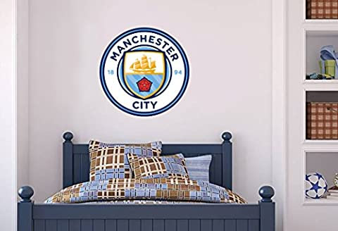 Manchester City Official Crest Set Wall Sticker - MCFC Decal Football Vinyl Poster Print (60)
