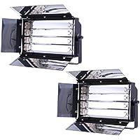 Banche 2x4 HWAMART® 1100W 455 fluorescente Banca Luce Video Luci Daylight Balance Film con finitura a specchio