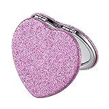 Qiao Nai(TM Farbplastikspiegel Kleine Kosmetikspiegel Plastischer Schminkspiegel Damen und Frauen (2A)