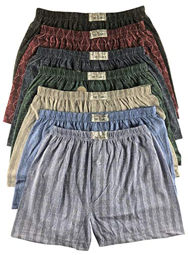 .bakis. 3/6/9/12 Stück Klassische Herren Boxershorts Unterhosen Unterwäsche mit Eingriff in Normalgröße und Übergröße, Kariert Gr.5(S)-13(6XL) - 6 Stück - Gr. 13(6XL)