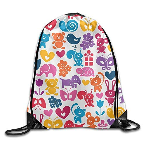Louis Vuitton Duffle Bag (Cute Animals Gym Drawstring Backpack Unisex Portable Sack Bags)