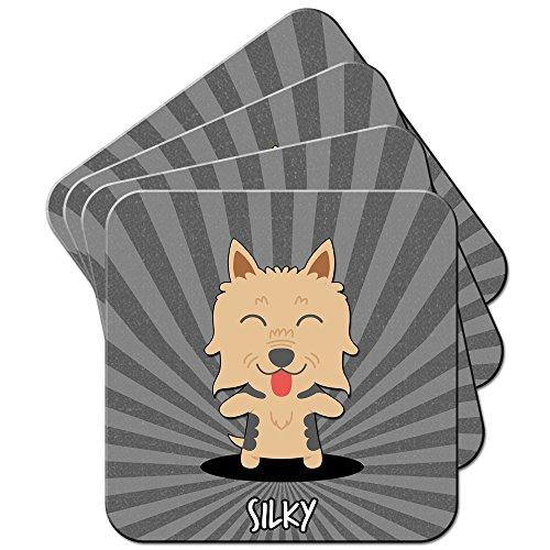 Silky, Australian Silky Terrier Set aus 4 Untersetzern -