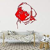 guijiumai Vinyl Wandbild Für Wohnzimmer Wand Poster Lustige Und Nette Mops Hause Aufkleber...