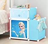 #7: Kriva Collapsible DIY Shelf Storage Cabinet Closet Bedside Table for Books Kid's Toys Newspaper-Assorted Color