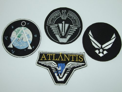 s Team für Damen 4 bestickt Badge Set (Atlantis Kostüm)