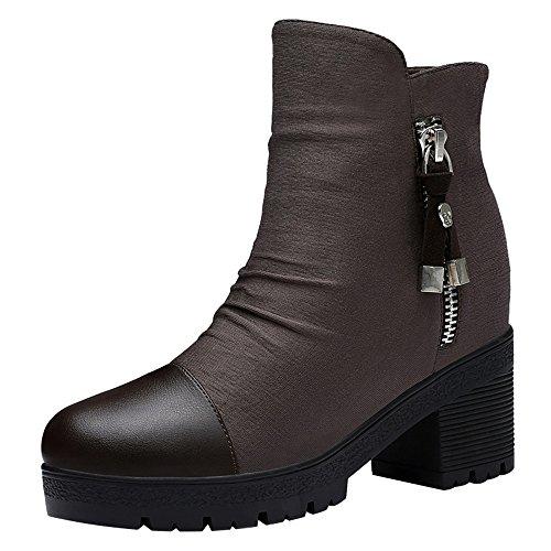 fq-real-balck-friday-womens-breathable-side-zipper-block-heel-cap-toe-platform-booties-35-ukbrown