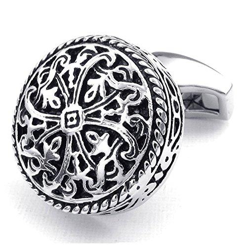 sj-fashion-2pcs-rhodium-plated-mens-vintage-celtic-cross-shirts-cufflinks-wedding-silver-1-pair-