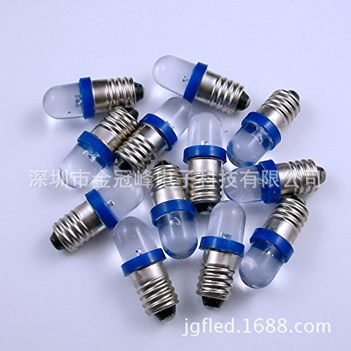 Lugii Cube Mini lampe de signal d'avertissement ampoules E10 DC 6/12/24 V LED Indicateur de culot à vis ampoule