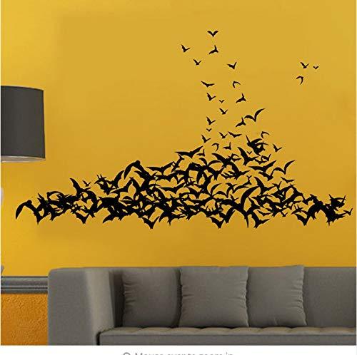 Wandaufkleber Halloween Fledermäuse Home Haushaltsraum Wandaufkleber Wandbild Deko (Halloween Wallpaper Minecraft)