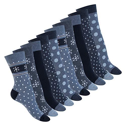 Celodoro 10 Paar süße Damen Socken - Navy Blue 35-38 (Blue Socken Navy)