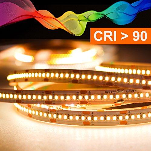 Mextronic LED Streifen LED Band LED Strip 2216 Warmweiß (2700K) CRI 90 90W 5 Meter 24V IP20 - 90w Led