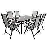 Charles Bentley 6 plazas rectangular Textilene Comedor Muebles Set 6 sillas Mesa de jardín al aire libre...