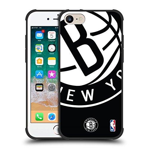 Ufficiale NBA Icona Oversize Brooklyn Nets Shockproof Matte Black Case per iPhone 7 / iPhone 8