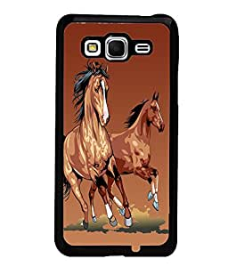 Fuson Horses Back Case Cover for SAMSUNG GALAXY GRAND PRIME - D3769