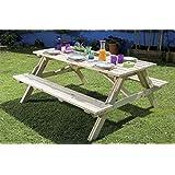 Mesa de picnic de madera plegable (175 cm largo)