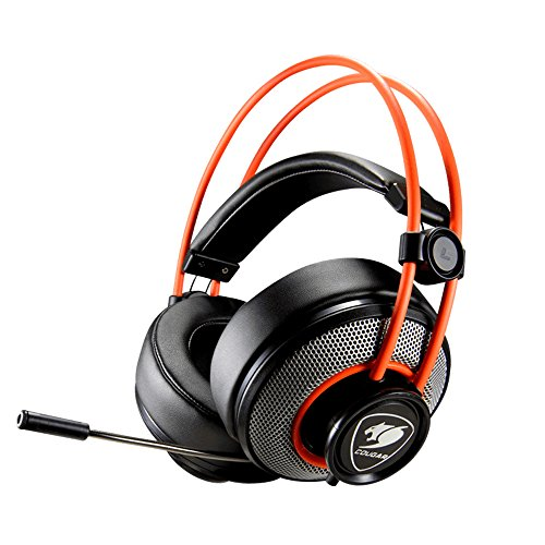 Cougar immersa Gaming Headset 3.5 mm Circumaural schwarz und Orange Circumaural Gaming-headset