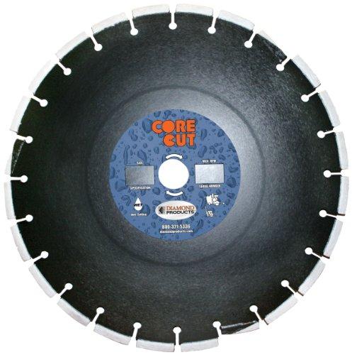Diamant Produkte Core Schnitt 78236dia Premium geheilt Beton Diamant Klinge, 12Zoll x 0,95° cm sledrunner X 1, schwarz 12 Zoll Beton-sägeblatt