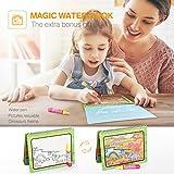 Cooljoy Matte Mit 1 Magisches Wassermalbuch+5 Stiftes+1 Charakterform+1 Geschenkbox, 80x60CM Magic Wasser Malmatte Ungiftig und Geruchlos Spielzeug für Kinder Pädagogisches Geschenk von Cooljoy